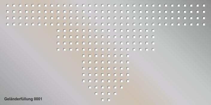 Geländerfüllung Muster 0001