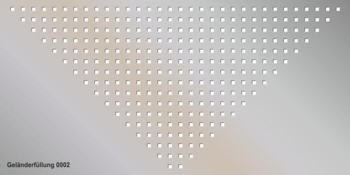 Geländerfüllung Muster 0002