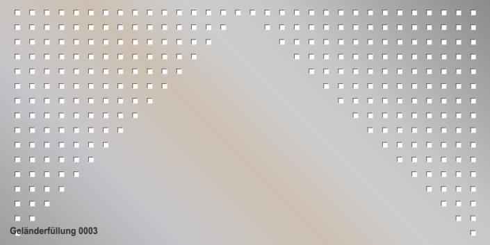 Geländerfüllung Muster 0003