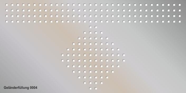 Geländerfüllung Muster 0004