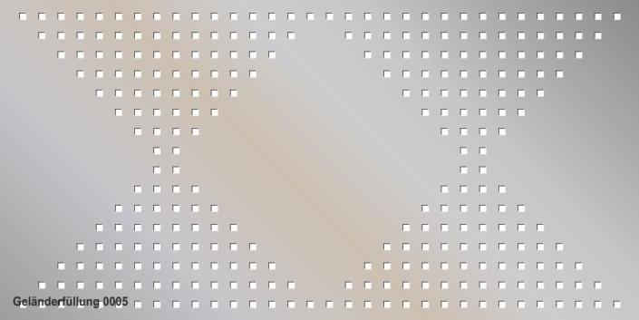 Geländerfüllung Muster 0005
