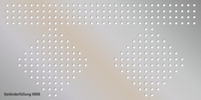Geländerfüllung Muster 0006