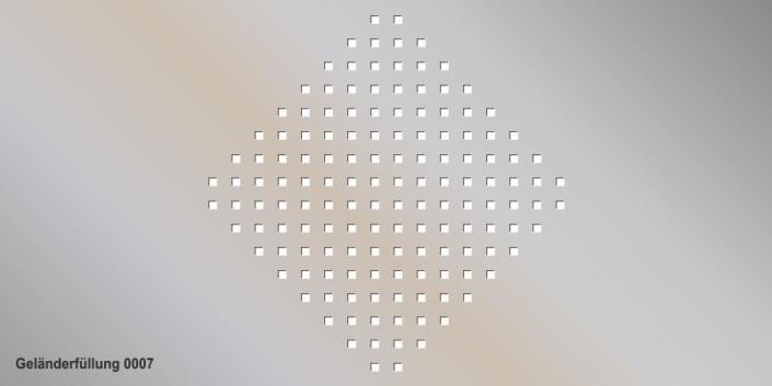 Geländerfüllung Muster 0007