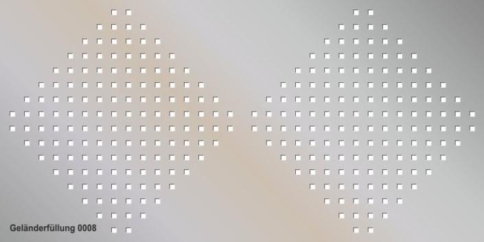 Geländerfüllung Muster 0008