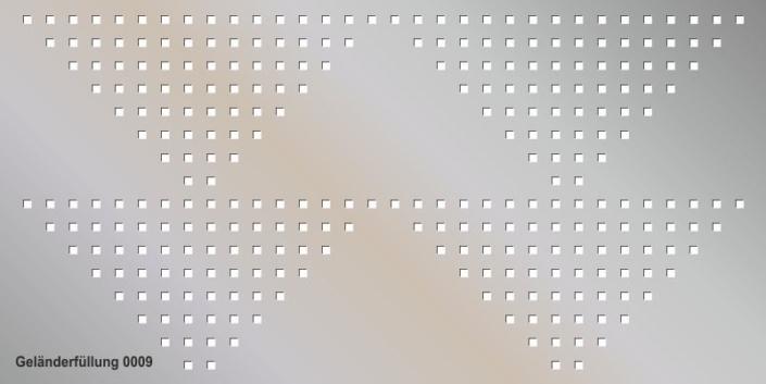 Geländerfüllung Muster 0009