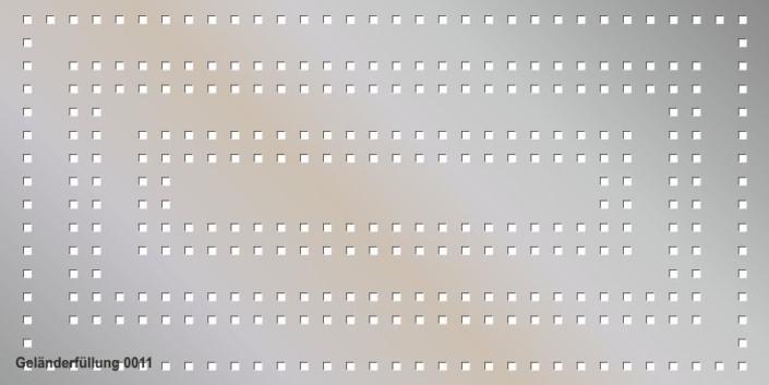 Geländerfüllung Muster 0011