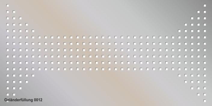 Geländerfüllung Muster 0012