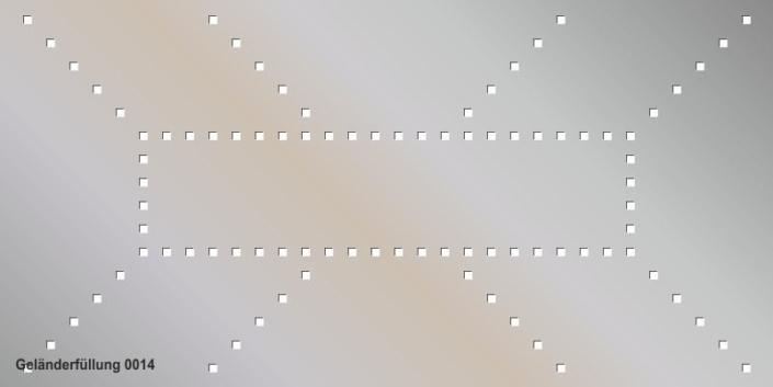 Geländerfüllung Muster 0014
