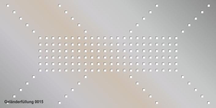 Geländerfüllung Muster 0015