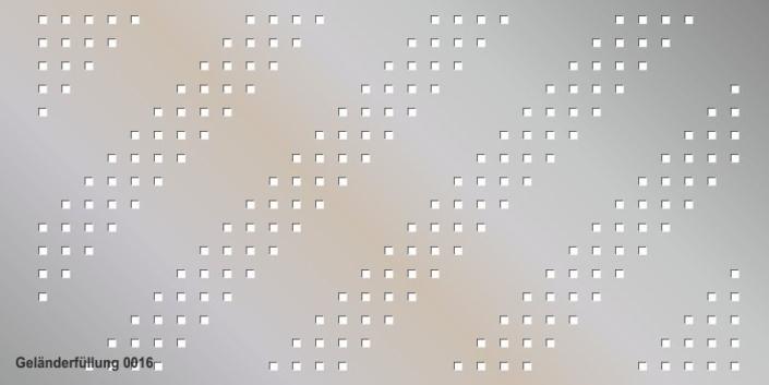 Geländerfüllung Muster 0016