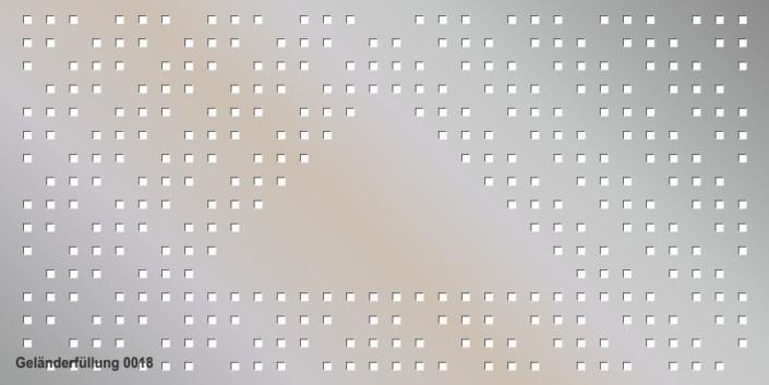 Geländerfüllung Muster 0018