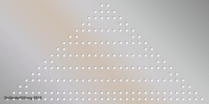 Geländerfüllung Muster 0019