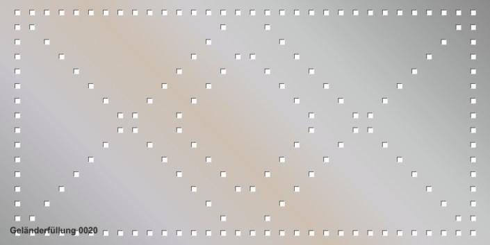 Geländerfüllung Muster 0020