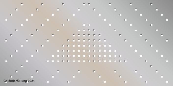Geländerfüllung Muster 0021