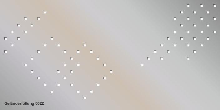 Geländerfüllung Muster 0022