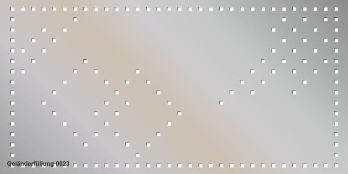 Geländerfüllung Muster 0023