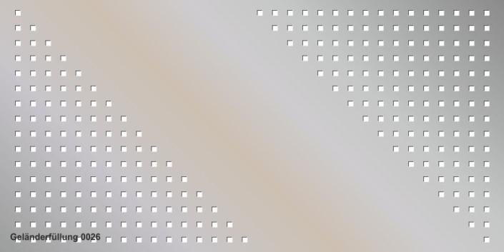 Geländerfüllung Muster 0026