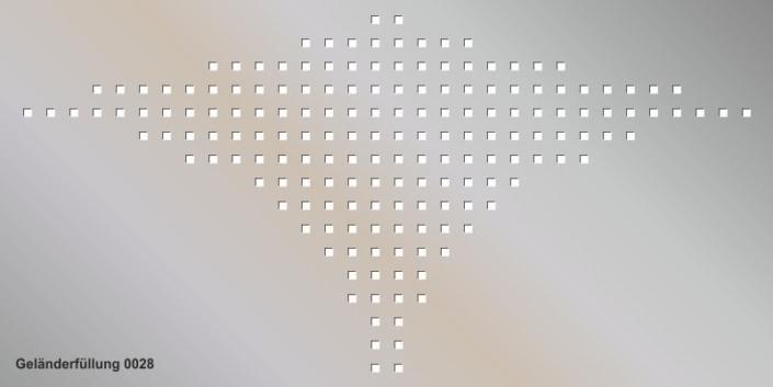 Geländerfüllung Muster 0028