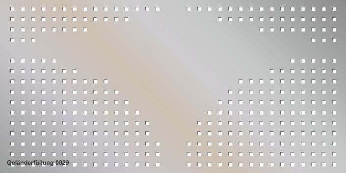 Geländerfüllung Muster 0029
