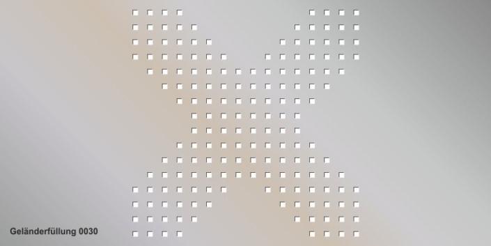 Geländerfüllung Muster 0030