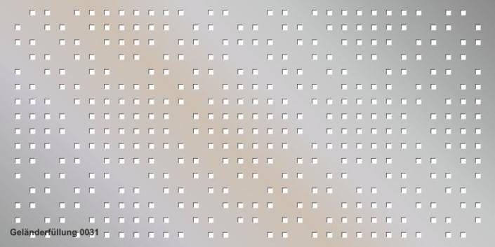 Geländerfüllung Muster 0031
