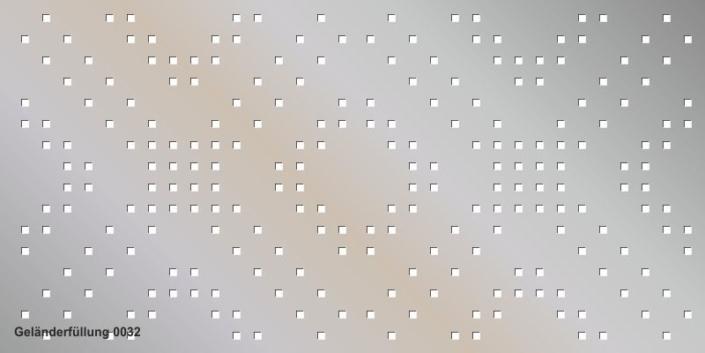 Geländerfüllung Muster 0032