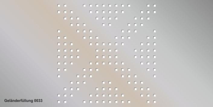 Geländerfüllung Muster 0033