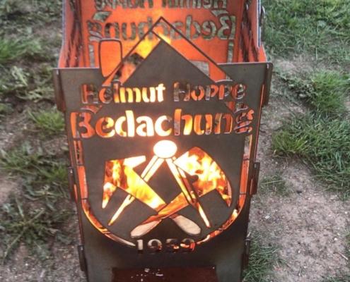 Feuerkorb mit Wunschmotiv